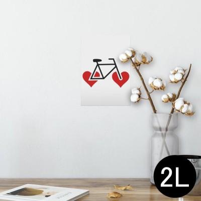 ポスター ウォールステッカー シール式 127×178mm 2L 写真 壁 インテリア おしゃれ wall sticker poster スポーツ イラスト ハート 002862
