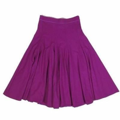 【中古】ブラミンク BLAMINK ウール フレア ロングスカート ボトムス パープル 紫 サイズ38 7924-230-0123 レディース