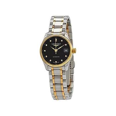 特別価格 Longines Elegant Automatic Diamond Black Dial Ladies Watch L2.128.5.57.7 並行輸入品