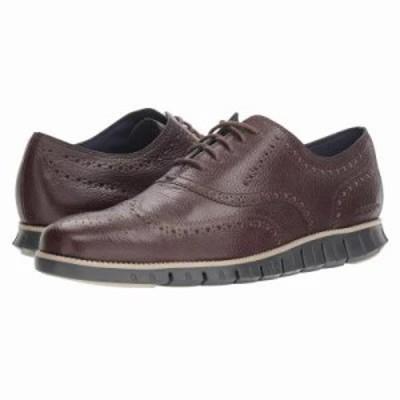 コールハーン 革靴・ビジネスシューズ Zerogrand Wingtip Oxford Leather Black Walnut/Dove/Magnet