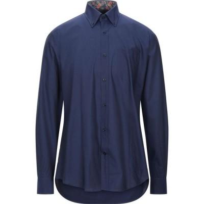 ポール シャーク PAUL & SHARK メンズ シャツ トップス Solid Color Shirt Dark blue