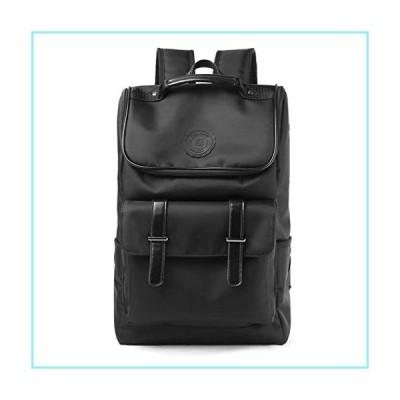 Casual Style Backpack With Earphone Hole Teenager ,Waterproof Oxford Multi-Function 14 Laptop Backpacks Black