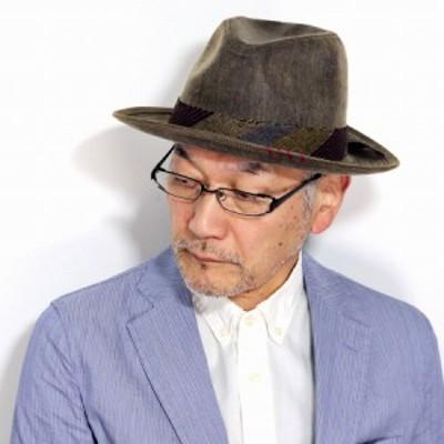 中折れハット メンズ ワイドブリム カルロス サンタナ ハット メンズ ワックスコットン CARLOS SANTANA ハット 帽子 コットン メンズ イ