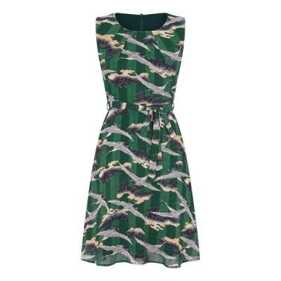 ユミ Yumi レディース ワンピース ワンピース・ドレス Far East Print Dress Green