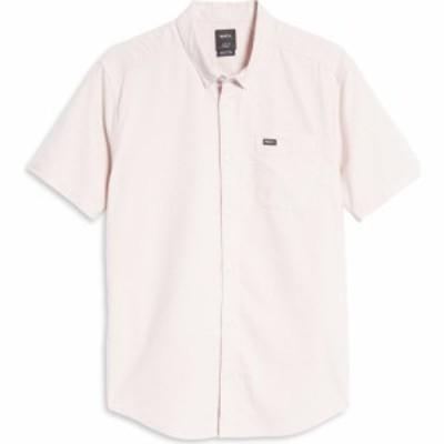 ルーカ RVCA メンズ 半袖シャツ トップス Thatll Do Solid Short Sleeve Button-Down Shirt Pale Mauve