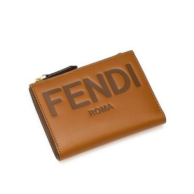 【2021年春夏新作】 フェンディ FENDI 2つ折り財布(小銭入れ付き) ブラウン FENDI ROMA 8M0447 AAYZ F0QVK CUOIO+OS