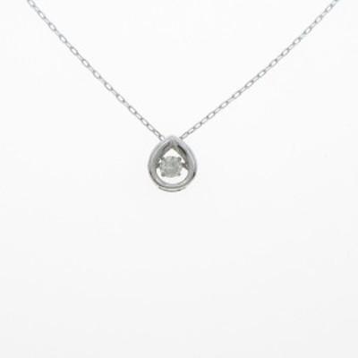 【中古品】K18WG ダイヤモンドネックレス