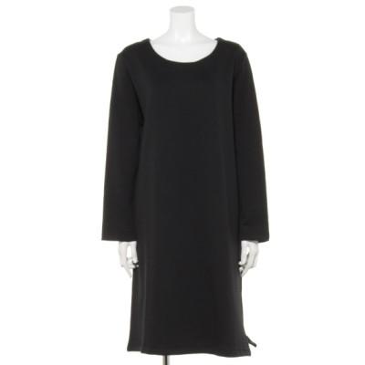 Tasha ruby[大きいサイズ] (ターシャルビー) レディース 裾片側スリットワンピース ブラック 5L