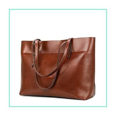 Kattee Vintage Genuine Leather Tote Shoulder Bag With Adjustable Handles (Brown)並行輸入品