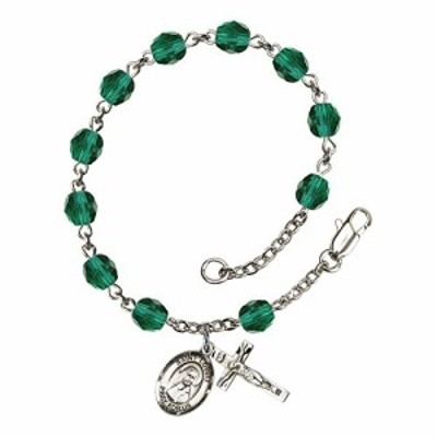 Bonyak Jewelry ブレスレット ジュエリー Bonyak Jewelry St. Louise de Marillac Silver Plate Rosary Br
