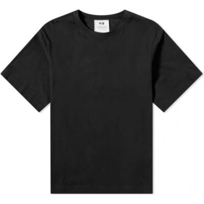 ワイスリー Y-3 メンズ Tシャツ トップス Classic Paper Jersey Tee Black