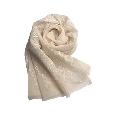 コットン シルク ストール フラワー 刺繍 大判 フォーマル レディース パーティー 結婚式 UV