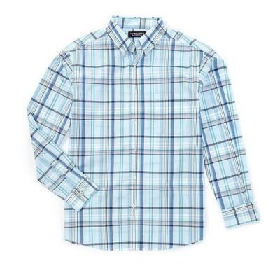 ラウンドトゥリーアンドヨーク メンズ シャツ トップス Luxury Cotton Long-Sleeve Large Plaid Sportshirt