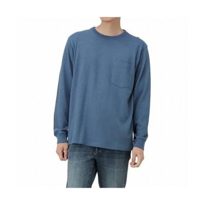 (MAC HOUSE(men)/マックハウス メンズ)NAVY ネイビー ポケット付きロングスリーブTシャツ MH/03731FW/メンズ ネイビー