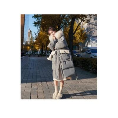 中綿コート レディース ロング丈 ダウン風ジャケット 帽子 キルティング 厚手 防寒 あったか アウター お しゃれ 暖かい