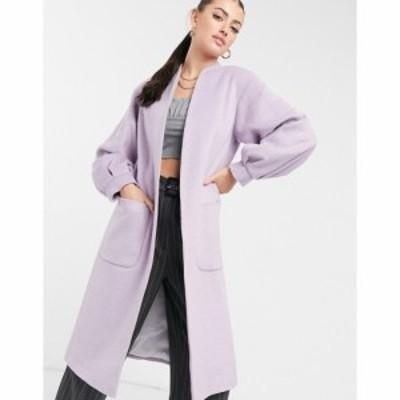 ヘレン バーマン Helene Berman レディース コート アウター Volume Sleeve Long Wool Blend Coat In Lilac