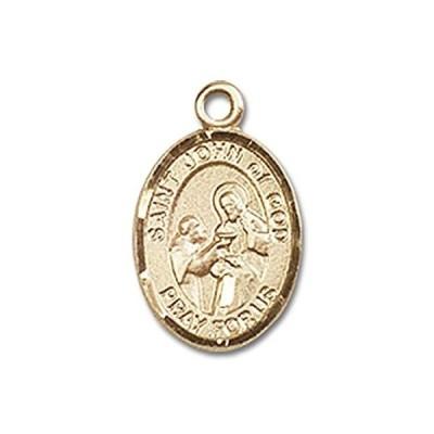 【新品】セントジョン・神の手作りオーバルメダルペンダント14KTイエローゴールド