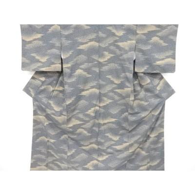 リサイクル のり散らしに松皮菱模様上代紬着物