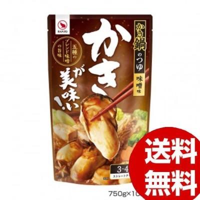 BANJO 万城食品 かき鍋つゆ 750g 10×10個入 440178