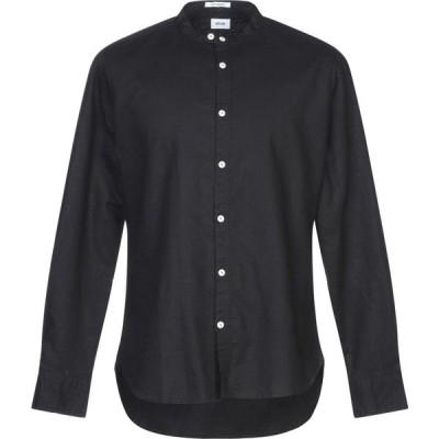オフィチーナ トレンタ セイ OFFICINA 36 メンズ シャツ トップス linen shirt Black