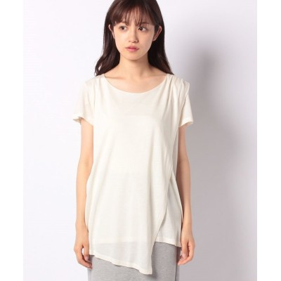 (SISLEY/シスレー レディス)モダールパネル半袖Tシャツ・カットソー/レディース オフホワイト