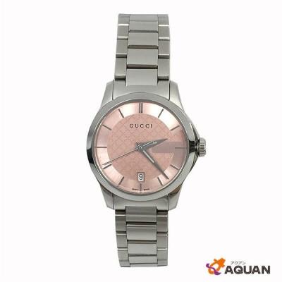 GUCCI グッチ レディース 時計 腕時計 Gタイムレス G-timeless YA126524 126.5 シルバー×ピンクフェイス 送料込み