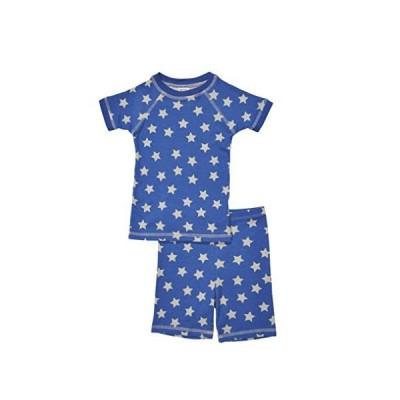 Brian the Pekingese Girls Sleepwear 100% Organic Cotton Short Sleeve and Shorts Pajamas (18M, Star) Made in USA