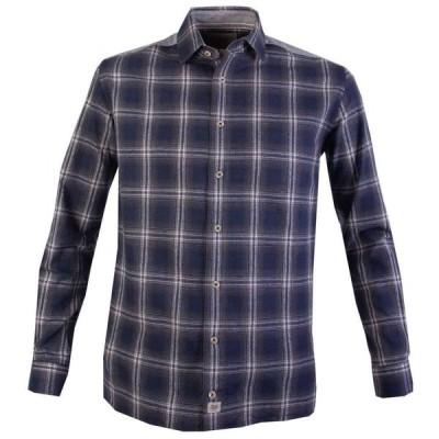 ダブルTWO Double Two メンズ シャツ トップス Rhys Check Casual Shirt Blue
