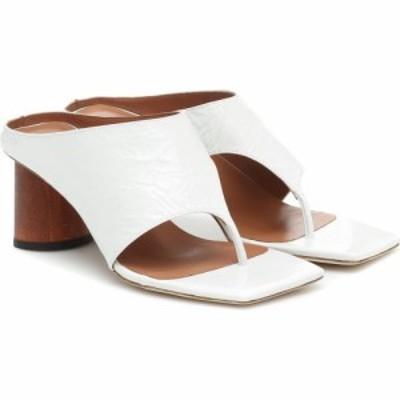 レジーナ ピヨ Rejina Pyo レディース サンダル・ミュール シューズ・靴 Lina leather thong sandals Leather Crinkle White