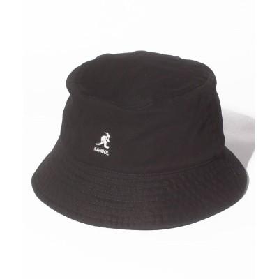 【ウィゴー】 KANGOL Washed Bucket ユニセックス ブラック F WEGO