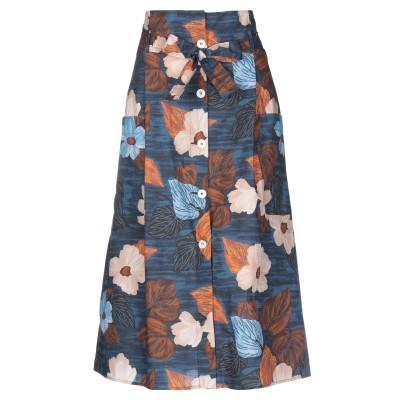 アティックアンドバーン ATTIC AND BARN 7分丈スカート ブルー 44 コットン 100% 7分丈スカート