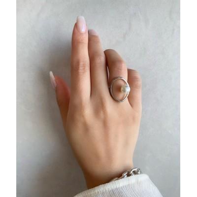 指輪 オーバルパールリング