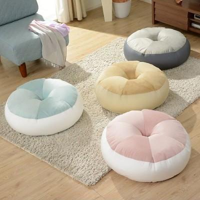 ビーズクッション ベーグル クッション ビーズソファ ビーズ フロアクッション 日本製 ( 座布団 ビーズソファー 円形 丸型 )