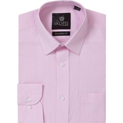 スコープス Skopes メンズ シャツ トップス Easy Care Formal Tailored Shirt Pink