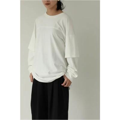 【ご予約会開催中】Cotton Layered Longtshirts -WHITE(12110609)(R) Todayful(トゥデイフル)