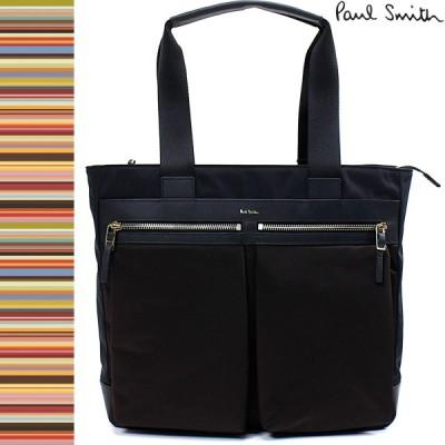 ポールスミス Paul Smith メンズ トートバッグ ユーティリティポケット PSN144 ポリエステル / 牛革 バッグ