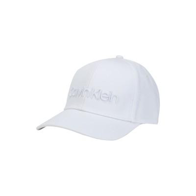 カルバン クライン CALVIN KLEIN 帽子 ホワイト one size コットン 100% 帽子