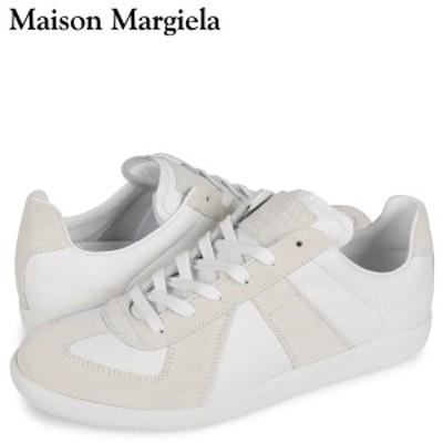 メゾンマルジェラ MAISON MARGIELA レプリカ スニーカー メンズ REPLICA LOW TOP ホワイト 白 S57WS0236