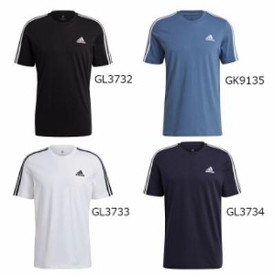 アディダス adidas メンズ トレーニングウェア トップス 半袖 M ESS 3ストライプス SJ Tシャツ 26800 【2021SS】