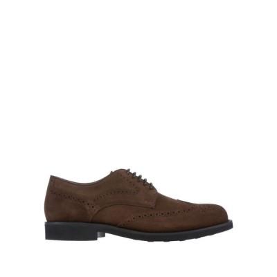 トッズ TOD'S メンズ シューズ・靴 laced shoes Dark brown