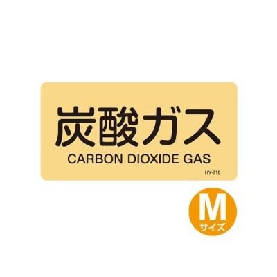 JIS配管アルミステッカー ガス関係 「炭酸ガス」 Mサイズ 10枚組 ( 表示シール アルミシール )