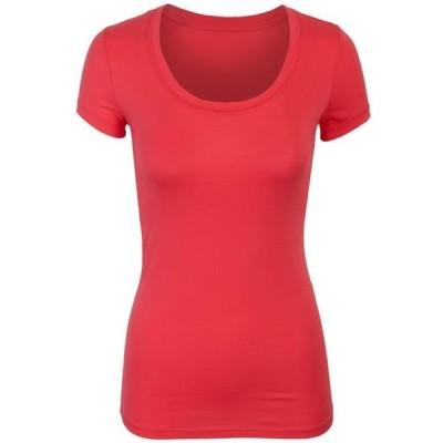 レディース 衣類 トップス KOGMO Womens Short Sleeve Basic Plain Round Neck Cotton T-Shirt Top ブラウス&シャツ