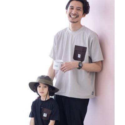 ザ ショップ ティーケーメンズ THE SHOP TK(Men) 【コールマン/Coleman】布帛ポケットTシャツ (ベージュ)