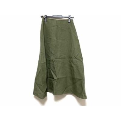 アール/オンワード R ロングスカート サイズ32 XS レディース 美品 カーキ【中古】20200621