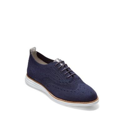 コールハーン レディース スニーカー シューズ Original Grand Knit Wingtip Oxford Sneaker MARINE BLU