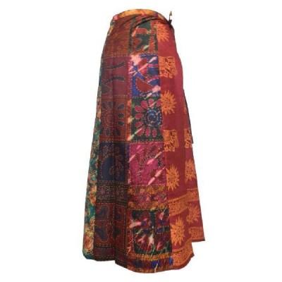 スカート アジアン衣料 バティック・ラップスカート14 クリックポスト選択 送料200円