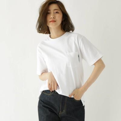 ベース コントロール BASE CONTROL 【WEB限定】半袖 ヘビーウェイトポケットTシャツ クルーネック (アイボリー)