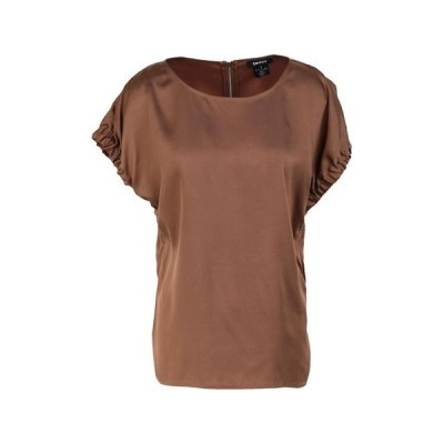 DKNY ブラウス  レディースファッション  トップス  シャツ、ブラウス  長袖 ブラウン