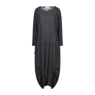 UN-NAMABLE 7分丈ワンピース・ドレス スチールグレー M ウール 100% 7分丈ワンピース・ドレス