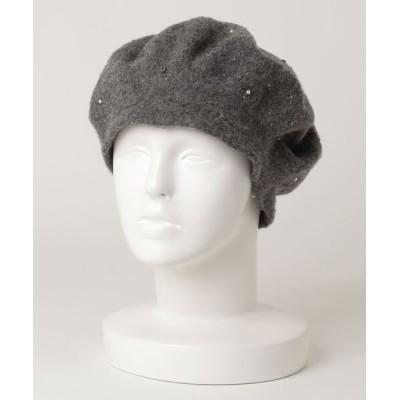 ZOZOUSED / ビジューベレー帽 WOMEN 帽子 > ハンチング/ベレー帽